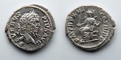 Ancient Coins - ROMAN EMPIRE: Septimius Severus, AR Denarius, Concordia Holding Patera and Scepter