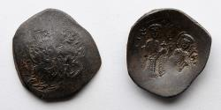 Ancient Coins - BYZANTINE EMPIRE: Alexius III Angelus-Comnenus, BI Aspron Trachy (3.5g)