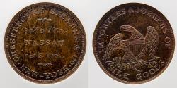 Us Coins - CIVIL WAR TOKEN: 1850s, Cheesebrough Stearns & Co, MS 64 RB, Top Pop