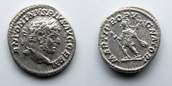 Ancient Coins - ROMAN EMPIRE: Caracalla, AR Denarius, Mars Advancing