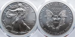 Us Coins - 2020 American Silver Eagle, First Day of Issue, PCGS MS70