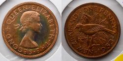 World Coins - NEW ZEALAND: 1953 Proof Penny