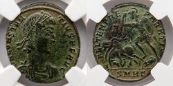 Ancient Coins - ROMAN EMPIRE: Constantius II, BI Centenionalis, NGC Ch XF