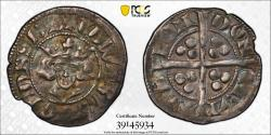 World Coins - ENGLAND: 1307-27 Edward II, AR Penny, PCGS AU 50, TOP POP, ONLY GRADED EXAMPLE, London Mint, S-1456