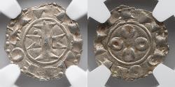 World Coins - FRANCE: 1100-1300 (.94), AR Denier, Melgueil- Maguelonne, NGC 58