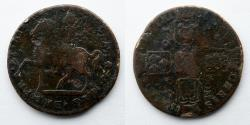 "World Coins - IRELAND: James II, Crown, ""Gun Money,"" 1690, (32mm, 11.5g)"