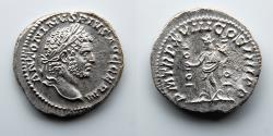 Ancient Coins - ROMAN EMPIRE: Caracalla, AR Denarius, Fides Holding Standards