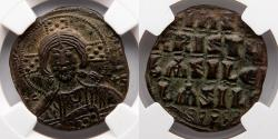 Ancient Coins - BYZANTINE EMPIRE: Anonymous Follis, Class A3, NGC AU * 5/5, 5/5, STAR DESIGNATION