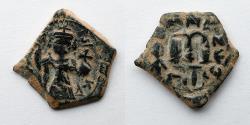Ancient Coins - BYZANTINE EMPIRE: AE Fals or Follis, Arab Byzantine, c. 636-660, 4.8g