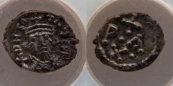"Ancient Coins - BYZANTINE EMPIRE: Constans II Pogonatus. AR 1/2-siliqua, NGC XF 5/5, 2/5, ""The Morris Collection,"" Carthage Mint, Top Pop"
