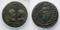 Ancient Coins - ROMAN PROVINCIAL: Gordian III and Tranquillina, AE Tetrassarion, AD 238-244, ANACS EF 40