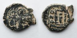 Ancient Coins - BYZANTINE EMPIRE: AE Fals or Follis, Arab Byzantine, c. 636-660, 6.5g