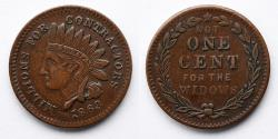 Us Coins - CIVIL WAR TOKEN: 1863 Liberty Head, Millions for Contractors, Not One Cent for Widows, Fort Lafayette on Headband, R2, F- 97/389a