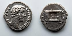 Ancient Coins - ROMAN EMPIRE: Antoninus Pius, AR Denarius, Alter