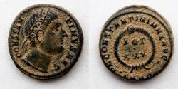 Ancient Coins - ROMAN EMPIRE: Constantine I, AD 310-337. Æ Follis (17mm, 3.3 g), Eyes toward Heavens
