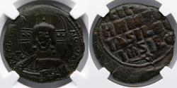 Ancient Coins - BYZANTINE EMPIRE: Anonymous Follis, Class A3, NGC Ch XF 4/5, 4/5
