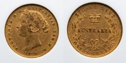 World Coins - AUSTRALIA:  1870 Gold Sovereign, Victoria, NGC MS 50