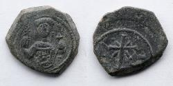 Ancient Coins - BYZANTINE EMPIRE: Manuel I, AD 1143-1180, AE Tetateron (2.9g), Thessalonika Mint