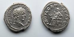 Ancient Coins - ROMAN EMPIRE: Caracalla, AR Denarius, Indulgentia Holding Patera and Scepter
