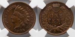 Us Coins - 1906 Indian Penny, 1C, NGC MS 64 BN