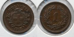 World Coins - SWITZERLAND: 1918 1 Rappen