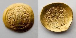 Ancient Coins - BYZANTINE EMPIRE: Romanus IV Diogenes with Eudocia, Michael VII, Constantius and Andronicus, AV Histamenon Nomisma, 1068-1071 (26.5mm, 4.40g), Constantinople Mint