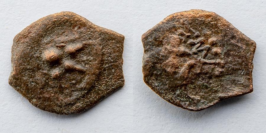 "Ancient Coins - JUDEA: Alexander Jannaeus, 103-76 BC, AE Prutah, ""Widow's Mite"""