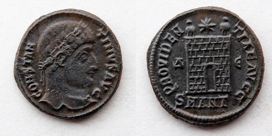 Ancient Coins - ROMAN EMPIRE: Constantine I, AE3 BI Nummus, AD 307-337 (4.1g), Campgate, Antioch Mint