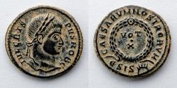 Ancient Coins - ROMAN EMPIRE: Crispus, AE Follis, 317-326 AD (19.5mm, 3.5g), VOT X, S, Siscia Mint