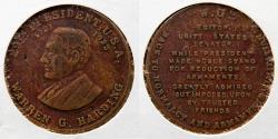 Us Coins - CIVIL WAR TOKEN: Warren G Harding