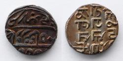 World Coins - INDIA: Kutch State Shree Deshalji, One AR Silver Kori, 1947 to 1956 (15mm, 4.68g)