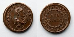Us Coins - CIVIL WAR TOKEN: Broas Brothers, Our Country, NY630M/1143, R 3