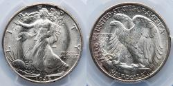 Us Coins - 1945-S Walking Liberty, Half Dollar, 50 Cents, PCGS MS65