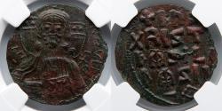 Ancient Coins - BYZANTINE EMPIRE: Anonymous AE Follis (7.30g), CLASS A3, NGC Ch AU 3/5, 2/5