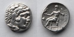 Ancient Coins - GREEK: Kings of Macedon, Philip III, Arrhidaeus, 323-317 BC, AR Drachm, (16mm, 4.24g), Lifetime issue of Side