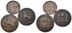 World Coins - GIBRALTAR. Lot consisting of 3 coins from the 19th century. Various qualities. TO EXAMINE.