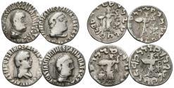 World Coins - BAKTRIA. Lot consisting of 4 Drachmas of Apollodotos II. 85-65 BC Indo-Greece. Bopearachchi 2; HGC 12, 392. Ar. TO EXAMINE.