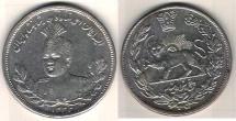 Ancient Coins - ITEM #35385 QAJAR (PERSIAN DYNASTY) AHMAD SHAH (AH 1327-1344) Largest SILVER 5000 DINARS, TEHRAN, 1332 AH (1913) PORTRAIT TYPE!!! SCARCE SIZE KM # 1058