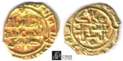 Ancient Coins - ITEM 1534 ISLAMIC Persia. Saffarids: al-Husayn ibn Tahir AH 369-371 / AD 980-983. AV 1/4 dinar. Sistan mint. AH 370 (AD 981). Album 1419.1 (SCARCE). Very Fine/ Extra Fine
