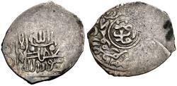 World Coins - ITEM #2924 TIMURID: TIMUR (TIMERLANE) AH 771-807, AR akce, AMID mint (Anatolia), ALBUM #2383, SCARCE type/ RARE mint! CRUDE AND PRIMITIVE STRIKE! UNDATED