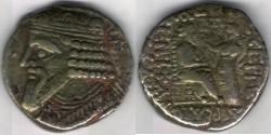 Ancient Coins -       Item #19589, Parthian Kings: Gotarzes II (A.D. 40-51), AR tetradrachm, Sellwood #65.28-32, Seleucia mint, dated year 50/51AD