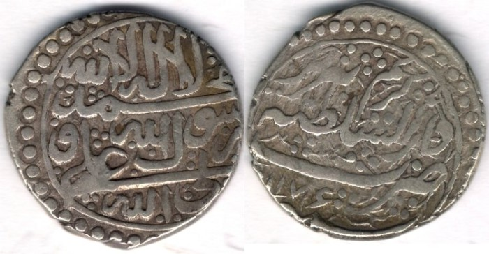 World Coins -    Item #3474, Persian silver coin, Karim Khan Zand, Abbasi, Tabriz (AH1176) Type D, KM #528 NOT reported date in KM!! Now Confirmed @ VCOINS!!