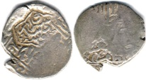 Ancient Coins - ITEM #32280 TIMURID: Badi' al-Zaman (AD1506-1508) AR 3-TANKAS, SABZAWAR MINT, NOT DATED, ALBUM #2445 (RARE), COUNTER-MARKED OVER SHAH ISMA'IL I SAFAVID