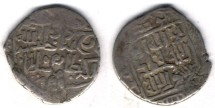Ancient Coins -     Item #3174 Timurid (Iran) Shahrukh (AH 807-850) AR tanka, Tarum mint near Zanjan, Dated 829AH, Album #2405, VERY RARE MINT!!