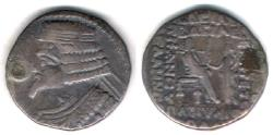 Ancient Coins - ITEM #19622, KINGS OF PARTHIA, PHRAATES IV 38-2 BC., BI TETRADRACHM MINTED IN SELEUCIA, SELLWOOD 51.30 DATED June 25 BC. Shore ----, VERY RARE, see my note below!!