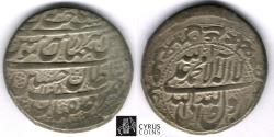 Ancient Coins - ITEM #32399 SAFAVID DYNASTY: SHAH SULTAN HUSSEIN (AH 1105-1135) SILVER ABBASI, Isfahan (CAPITAL) mint, DATED AH1108 (AD1697), ALBUM #2674 TYPE B, rare with MINT & DATE, KM 258