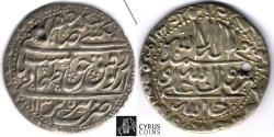 World Coins - Item #32382 Safavid (Persian Dynasty) Tahmasp II (AH 1135-1145) Silver abbasi, minted in Tabriz dated in AH 1135 (AD 1722), Album 2689.1, KM #303, ZENO 212041, first year of reign!