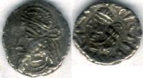 Ancient Coins - Item #47117 Kings of Persis, Napad ca. 2nd half of first century AD AR obol, Alram 614, Tyler-Smith NC (2004) #199, two sided images of kings, very pleasing example of this VERY SCARCE PIECE!