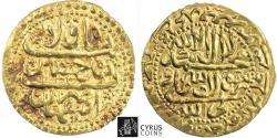 World Coins - Item #32331 Safavid Dynasty: Shah Sultan Husayn (AH 1105-1135) AV gold Ashrafi, Isfahan mint, AH1134 (AD1721/2), Album #2669, KM 287, Siege Coin XF