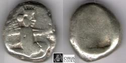 Ancient Coins - ITEM #1168, ANCIENT PERSIAN EMPIRE ACHAEMENID KINGS, (SARDIS) AR SIGLOS, TEMP. ARTAXERXES II-ARTAXERXES III (CA. BC 375-340), WITH DAGGER, QUIVER AND BOW TYPE, LYDIA.